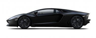 Black sport car.