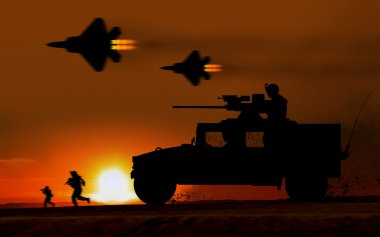 Combat Attack Hummer armored car