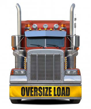 Oversize load red truck.