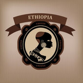 Fotografie Coffee labels and elements. Ethiopia. vector.