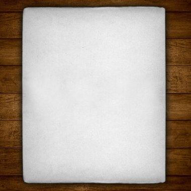 vintage white sheet of paper