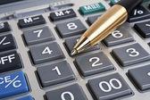 Obchodní koncept, pero a Kalkulačka klávesnice