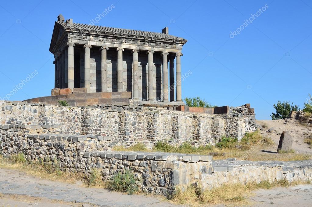 Ermenistan, pagan güneş Tapınağı'nda Garni, ben yüzyıl — Stok fotoğraf