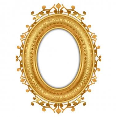 Vector illustration of gold vintage frame