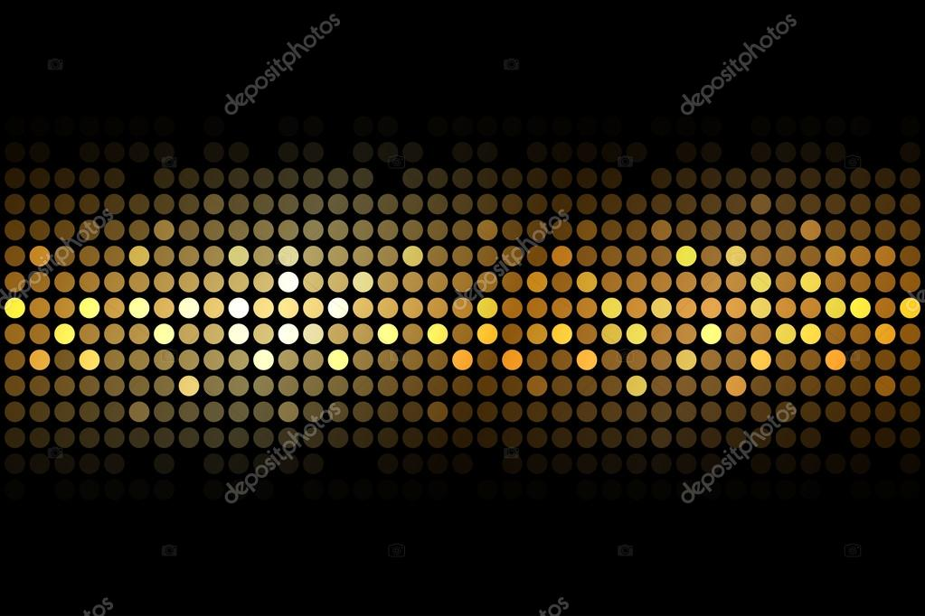 Vector Gold Lights On Black Background Stock