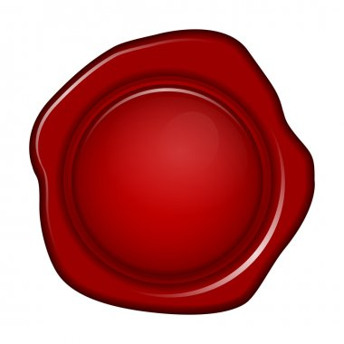 Vector illustration of wax seal