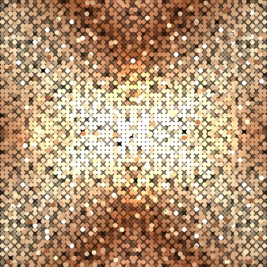 Vector abstract gold sequins