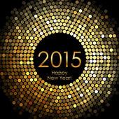 Fotografie Vektor - Happy New Year-2015 - gold Disco-Lichter frame