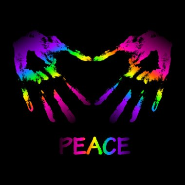 Vector peace and love