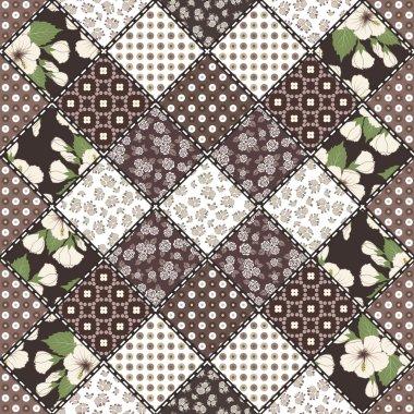 Creative seamless patchwork pattern