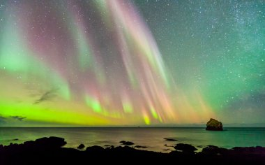 the light reflection of the northern lights