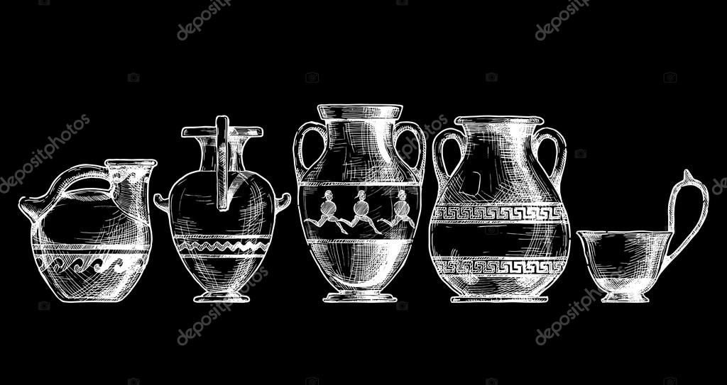 Pottery Of Ancient Greece Stock Vector Suricoma 100090422