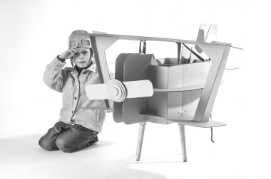 child and aircraft