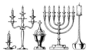 Vector illustration set of candlesticks.