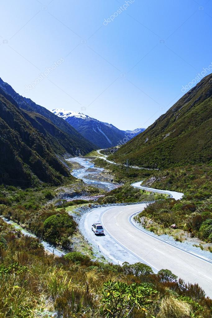 Campervan on  New Zealand's South Island