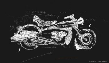 Motorcycle, machinery, trucks