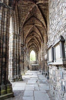 Ruins of Holyrood Abbey in Edinburgh, Scotland, United Kingdom