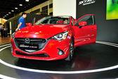 Mazda2 displej během Singapur Motorshow 2016