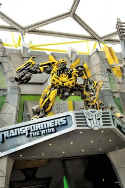 Bumblebee from Transformers in Universal Studios