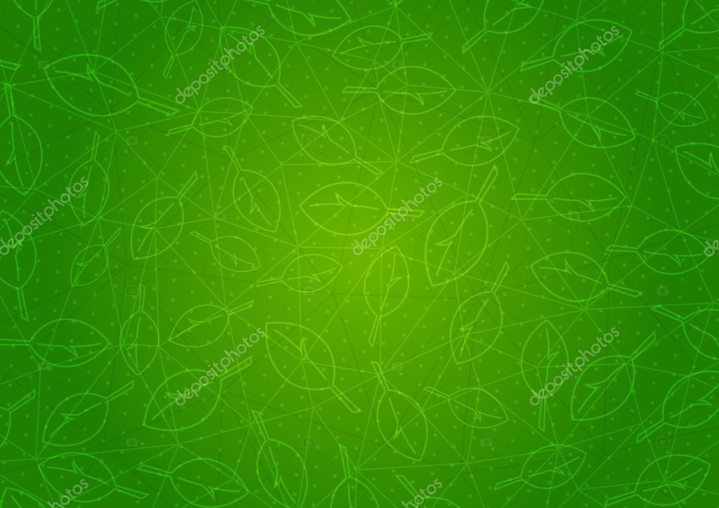 Illustrazione Verde Foglie Astratto Sfondo Verde Con Foglie