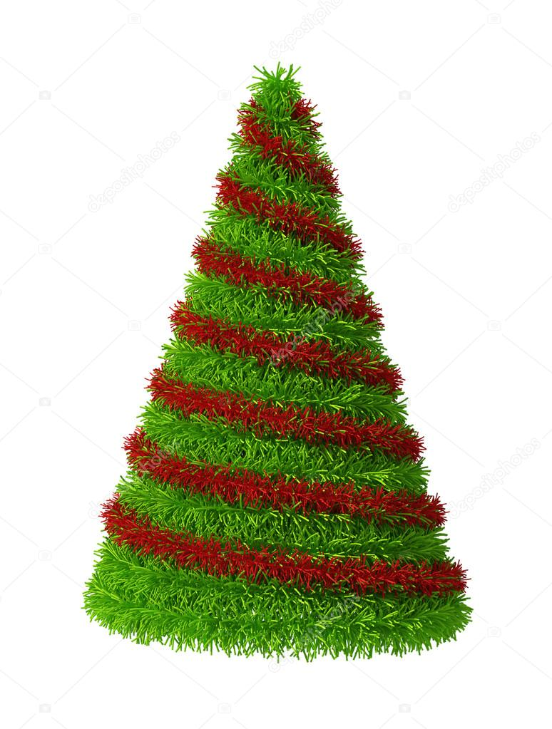 3d Kerstboom Met Decoraties Stockfoto C Designzzz 69977695