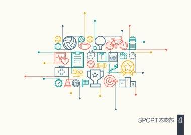 Sport integrated thin line symbols
