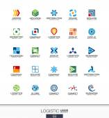 Abstract Logistic Logo Set