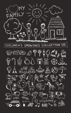 Child hand drawing illustration