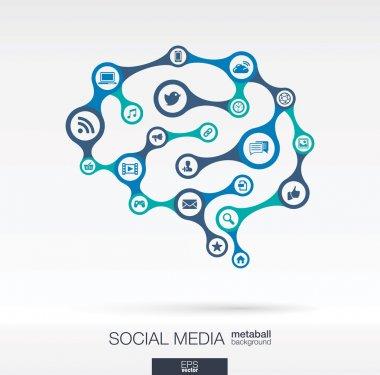 Brain concept for social media