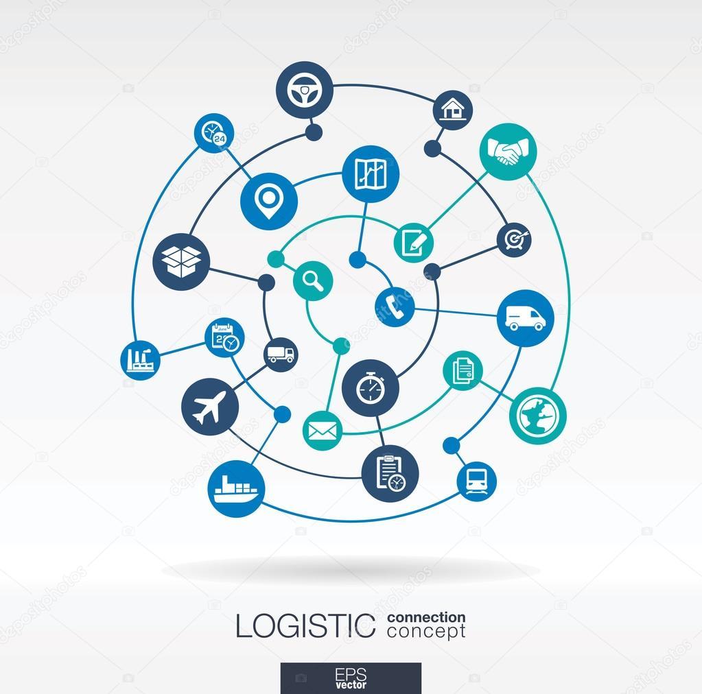 Logistic connection concept.
