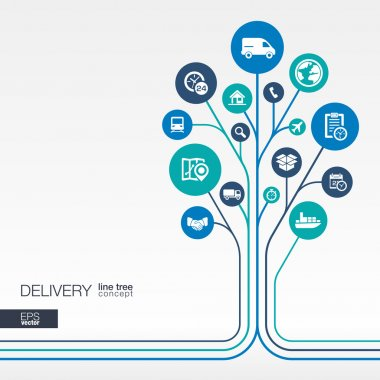 Abstract Delivery background