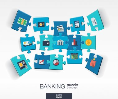 Abstract banking background