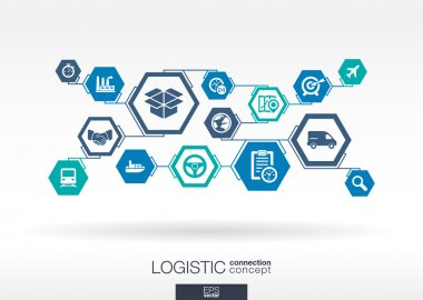 logistic Hexagon abstract background