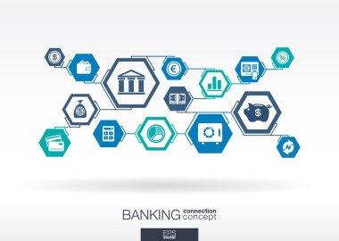 Banking network  interactive illustration