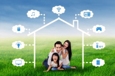 Family with smart home technology design