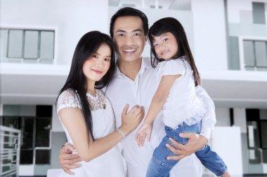 Happy family buy new apartment
