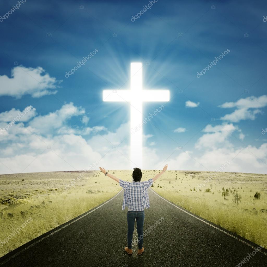 Man worshiping to the GOD — Stock Photo © realinemedia