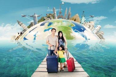Family tour to the world monument