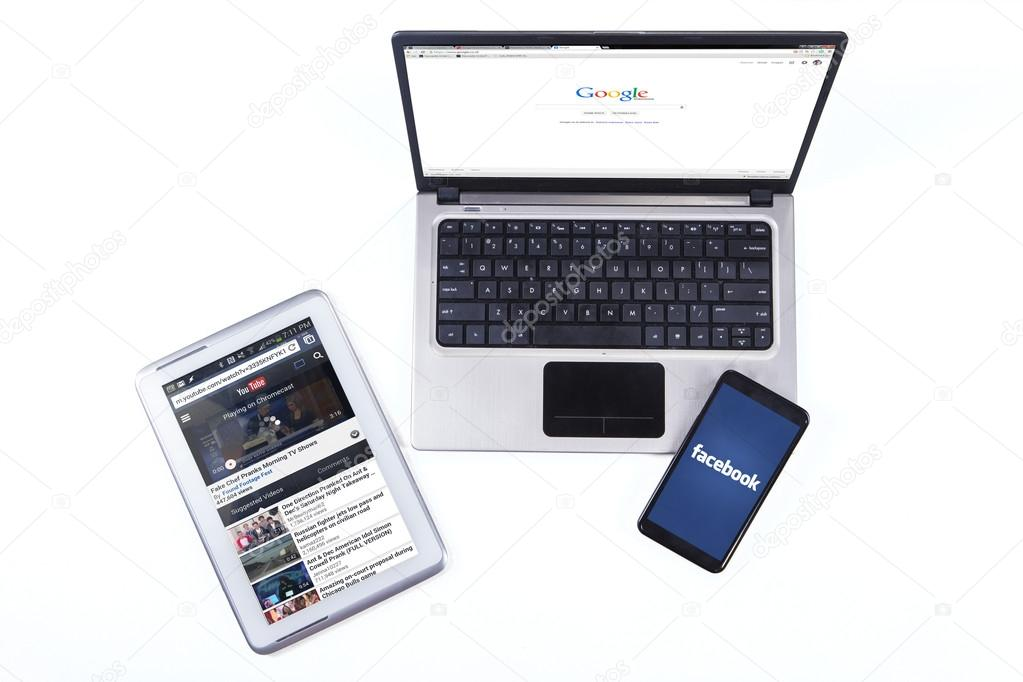 Modern gadget with social media network