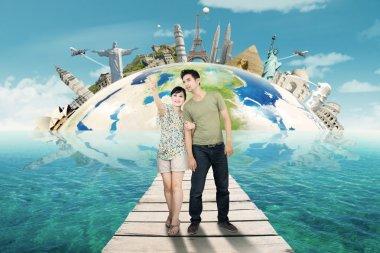 Couple Traveling Around The World