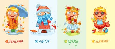Baby girl and the four seasons