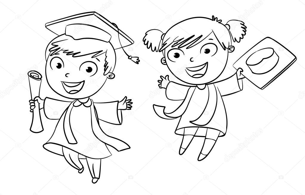 Dibujos Graduados Universitarios Para Colorear Graduado