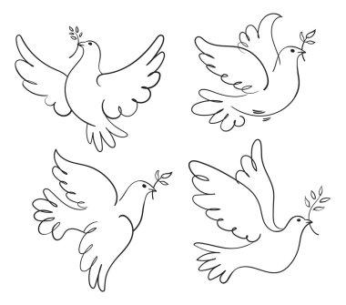 Peace dove. Set