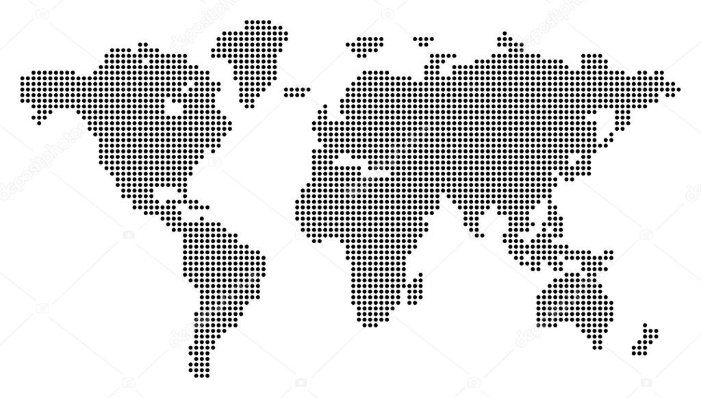 Dotted world map stock vector kharlamovalv 94343198 dotted world map vector illustration conceptual illustration isolated on white background vector by kharlamovalv gumiabroncs Images