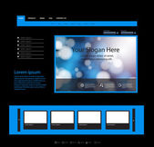 Modrý webové stránky šablony, snadné všechny upravitelné