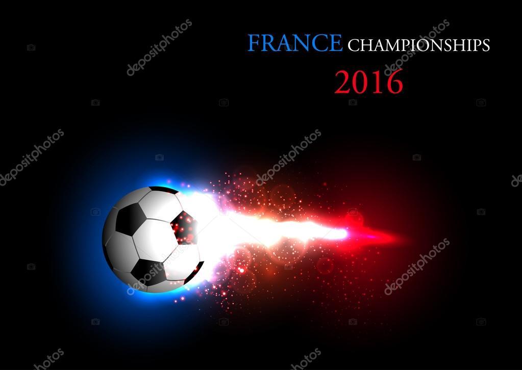 Banner leggero di calcio di francia con un pallone da - Pagina da colorare di un pallone da calcio ...