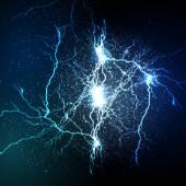 Fotografie vektorové lightning flash strike pozadí
