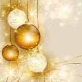 Vánoční zlaté pozadí, snadné všechny upravitelné