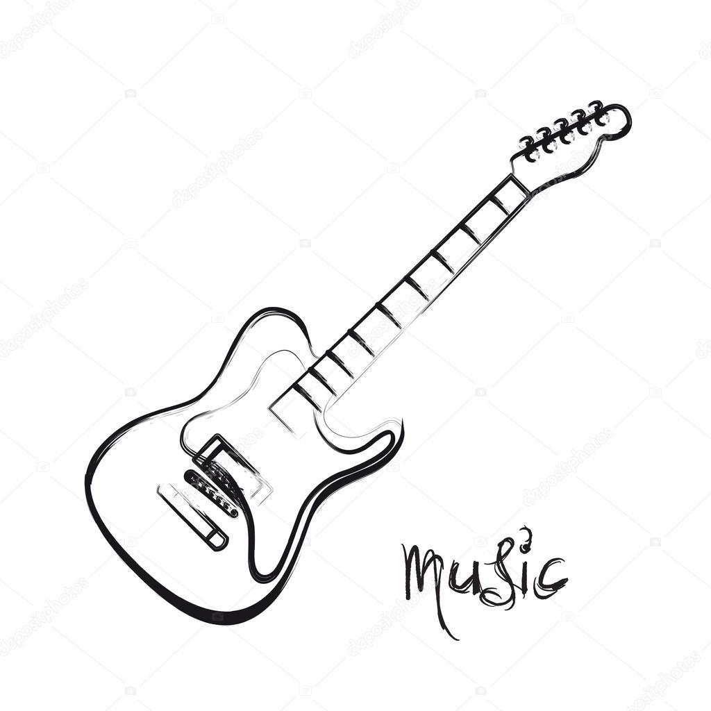 Imágenes Guitarras Electricas Dibujadas Guitarra Eléctrica Mano