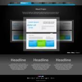 Fotografie webové stránky šablona pro návrháře, můžete snadno všechny prvky editab